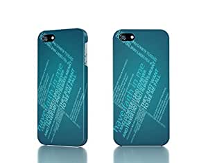 Apple iPhone 5 / 5S Case - The Best 3D Full Wrap iPhone Case - faith typography a day to remember by icecream design