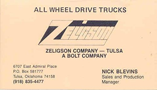 Amazon.com: 1975 Zeligson Truck Dealer Business Card Tulsa Oklahoma on business thank you note cards, business card delivery, business card press, business card books, business card description, business card services, business card sa, business card home, gift card order form, business card information, business card fabric, business card map, business card menu, greeting card order form, business card awards, business card contact, business card disclaimer, business card patterns, business card company, business card wording,