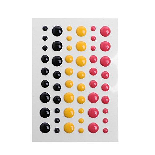 Enamel Card - Shoresu Enamel Dot Self Adhesive Embellishment for Cardmaking and Craft Scrapbook DIY 9.5CM6.5CM