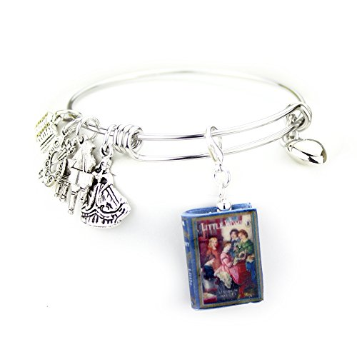 LITTLE WOMEN Louisa May Alcott Mini Book Expandable Stainless Steel Bangle Bracelet by Book (Easy Book Costumes For Teachers)