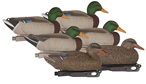 Hard Core Rugged Standard Floating Mallard Painted Heads 4 Drakes, 2 Hens, 6-Pack, 01-200-0035