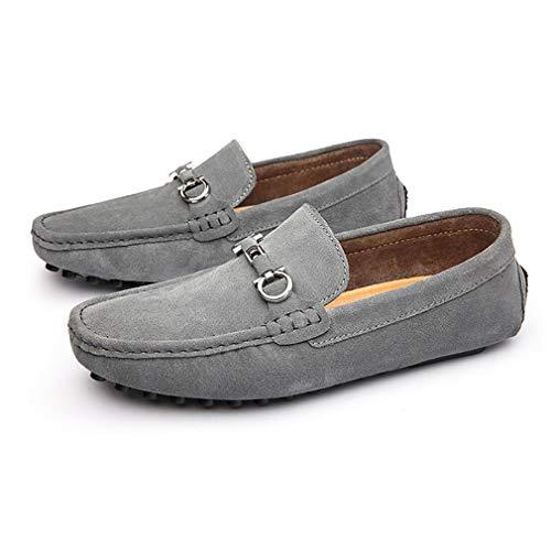 Hombres Invierno Para Otoño E leathe Slip zapatos Y ons Mocasines Perezosos Gris De Zapatos Conducción Moda Casuales 4EYqwRx