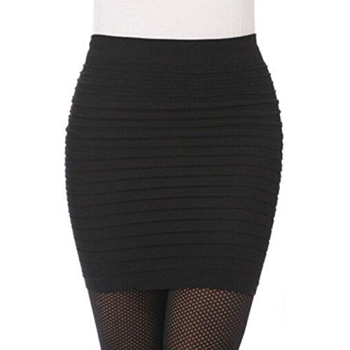 96d4b12a08 BaZhaHei Falda Corta de Mujer Vestidos de Mujer Moda para Mujer elástico  Plisado Cintura Alta Paquete