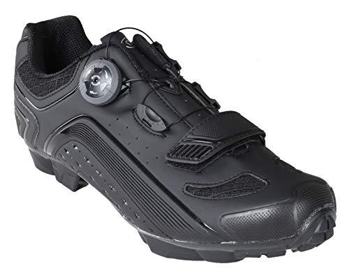 Gavin Pro MTB Shoe, Quick Lace - SPD Cleat Compatible Mountain Bike Shoe (Best Mtb Shoes For Wide Feet)