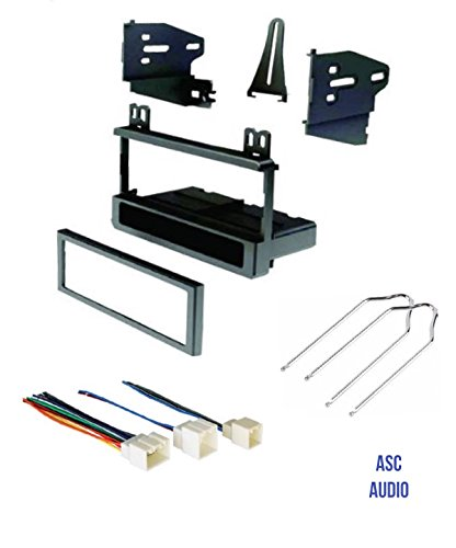 (ASC Audio Car Stereo Dash Kit, Wire Harness, and Radio Tool to Install a Single Din Aftermarket Radio for select Ford Lincoln Mazda Mercury Vehicles - Compatible Vehicles Listed Below)