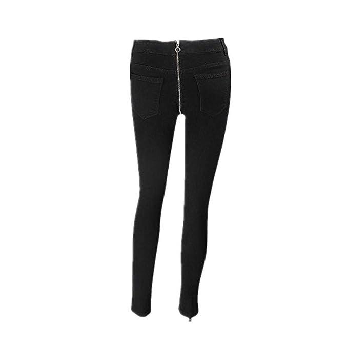 Women Pencil Stretch Casual Denim Skinny Jeans Pants High Waist Trousers Legging
