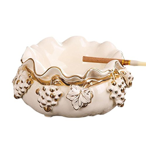 Grape Carving - FACAIG Ashtray Ceramic Creative lounge fashion of grapes hanging silver smit practice Home Decorations Rollsnownow