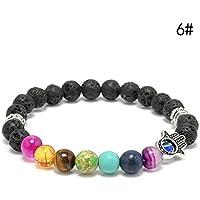ERAWAN Mens Womens 7 Stone Chakra Healing Reiki Prayer Bead Bracelet 6 Styles Gift EW sakcharn (#6)