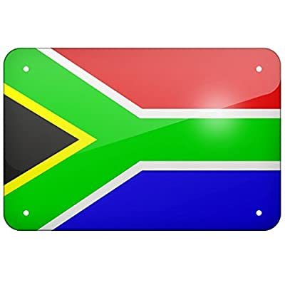 Metal Sign South Africa Flag, Small 12x18 Inch Metal Tin Sings