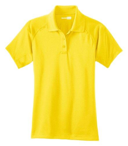 CornerStone Women's Snap Collar Fitted Polo Shirt. CS411 - Yellow CS411 XL