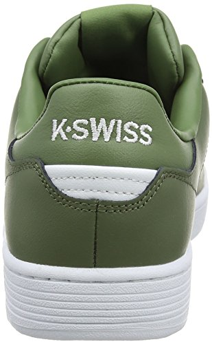 K-Swiss Men's Clean Court CMF Low-Top Sneakers, White Black, 11 UK Black (Olivine/White 312)