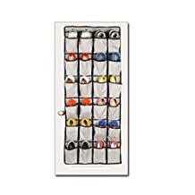 Over the Door Shoe Organizer, Most Durable 24 Pocket Hanging Shoe Organizer For Large Shoes, Complete With Customized Metal closet door shoe organizer Hooks (grey)