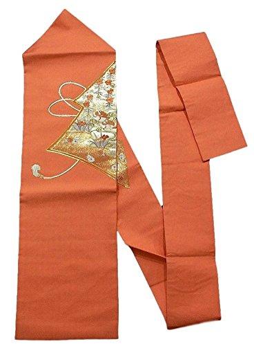 無駄なジーンズ違うリサイクル 名古屋帯  刺繍 水辺の花鳥文 正絹