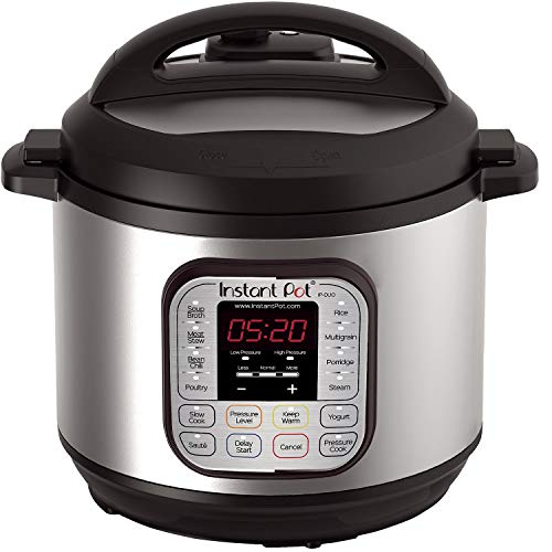 Instant Pot DUO80 8 Qt  7-in-1 Multi- Use Programmable Pressure Cooker, Slow Cooker, Rice Cooker, Steamer, Sauté, Yogurt Maker and Warmer (Renewed)