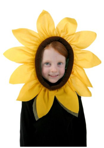 Fun Costumes Sunflower Yellow Petals Blooming Hood