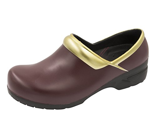 - Anywear Women's SRANGEL, Burgundy,Gold,Black, 9 Medium US