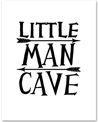 Little Man Cave - 11x14 Unframed Typography Art Print - Great Gift for Boys from Personalized Signs by Lone Star Art