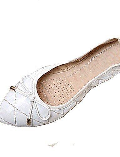 Nero Ufficio libero lavoro Donna Ballerine Formale Piatto Rosso Comoda Tempo Vernice Bianco almond Casual Scarpe ShangYi e qWxwScEO0
