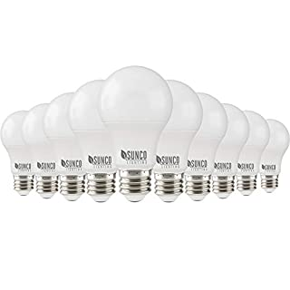 Sunco Lighting 10 Pack A19 LED Bulb, 3W=25W, 4000K Cool White, 250 LM, Dimmable, E26 Base, Indoor Light - UL