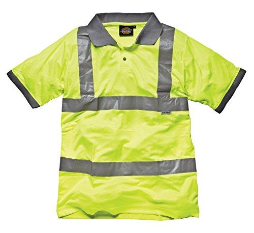 Dickies Sicherheitsgelb Safety Poloshirt Sicherheitsgelb Gerippte Bündchen & Kranz Herren Arbeitskleidung Tops - Gelb Gut Sichtbar, Herren, M
