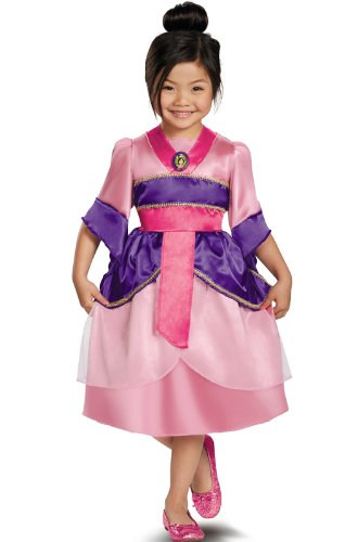 Disguise Disney's Mulan Sparkle Classic Girls Costume, 4-6X