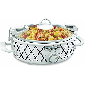 Crockpot 2.5-Quart Mini Casserole Crock Slow Cooker, White/Blue | ⭐️ Exclusive