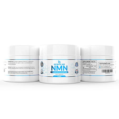 41jQSyCW7 L - NMN Supplements, NMN Nicotinamide Mononucleotide, Nad Booster By Infinite Age  NMN Powder 15 GRAMS (Per Jar) For Anti Aging, Brain Function, Stress, Health, Energy. NMN Molecule Supplement