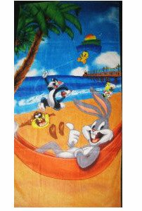 """Looney Beach"""" Beach Towel - 30"""" x 60""""  - Tweety - Character Design - Officially Licensed - Super Soft & Thick - 100% Polyester"""