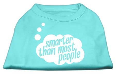 Mirage Pet Products Puppy Safety Dress Apparel Clothing Accessory Smarter then Most People Screen Printed Dog Shirt Grey Small(10) by Mirage by Mirage