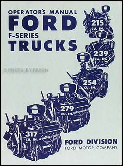 1952 Ford Pickup & Truck Owner's Manual - Truck Ford Pickup 1952