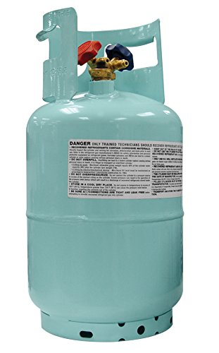 Mastercool (67010) Blue DOT R134A Recovery Refrigerant Cylinder with Float Switch and 1/2