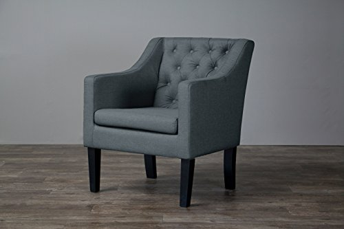Baxton Studio Brittany Club Chair, Gray
