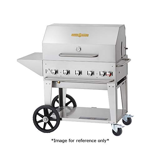 Crown Verity CV-MCB-36RDP-NG Mobile Outdoor Charbroiler, Natural Gas with 34