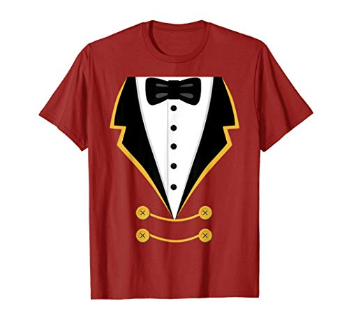Ringmaster Costume Shirt Halloween Easy Simple Gift -