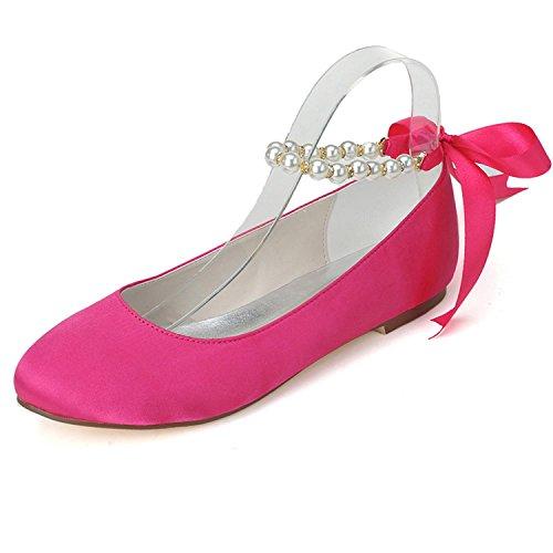 L@YC Zapatos De Boda De La Mujer Primavera Verano OtoñO Boda De La Tarde Y Bajo Con Grandes Jardines Pink