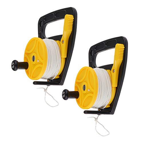 Prettyia 2-Pack SMB Dive Reel 150ft Strong Nylon Line, Wreck Scuba Diving Divers Kayak Anchor Equipment