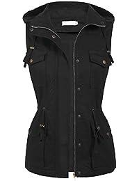 Womens Lightweight Sleeveless Military Anorak Safari Utility Vest