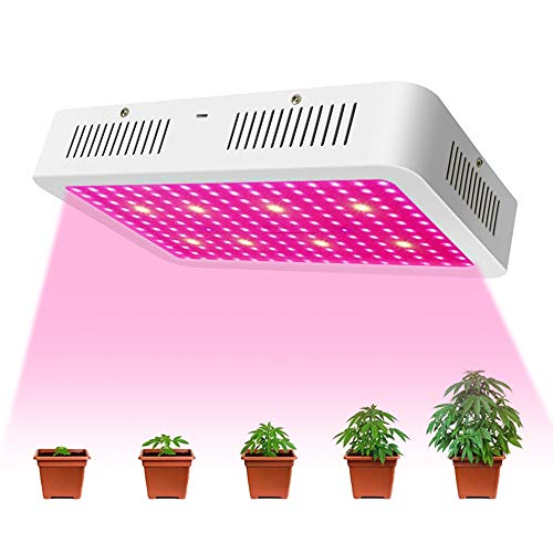 XECCON 1500W LED Grow Light Full Spectrum Grow Lamp for Indoor Plants Greenhouse Hydroponic Seedling Veg Flower(192 LEDs)