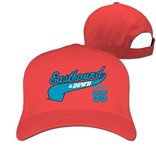 Gameser Particular Unisex-Adult Eastbound & Down Sports Comedy TV Series 55 Baseball Visor Cap Red