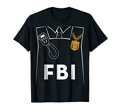 FBI Costume Cute T-shirt Funny Halloween FBI Agent Costume ()