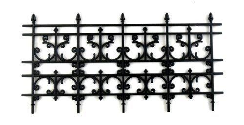 Melody Jane Dollshouses Dolls House Miniature Outdoor Fixture Accessory Black Victorian Railings Fence (Dollhouse Fence)