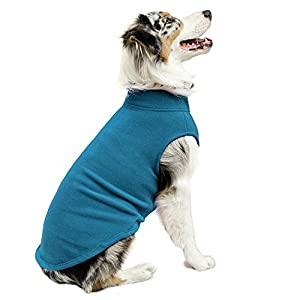 Gooby Stretch Fleece Pull Over Cold Weather Dog Vest, Steel Blue, 6X-Large