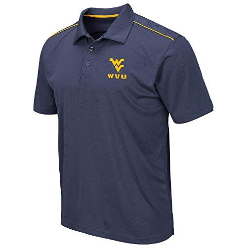 Mens WVU West Virginia Mountaineers Eagle Short Sleeve Polo Shirt - M
