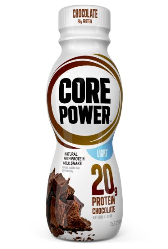 Core Power Natural High-Protein Milk Shake, Chocolate Light, 11.5-Ounce Bottles (Pack of 12)