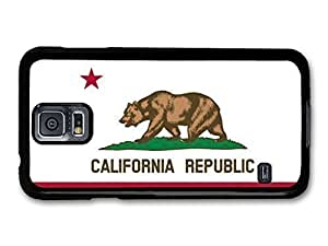 AMAF ? Accessories California Republic Flag Illustration For Case Samsung Galaxy S4 I9500 Cover