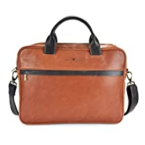 Urban Forest Bobby Leather 8.4 Ltrs Brown Laptop Messenger