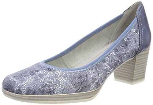 22433 Donna Blue Flower Co Tacco Scarpe Marco Premio Tozzi con Blu qxRpA8EH