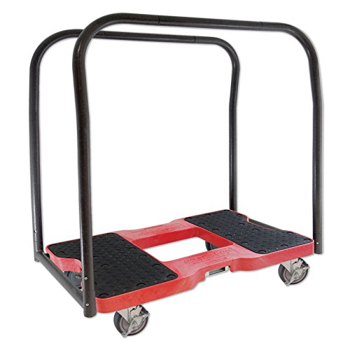 SNAP-LOC Panel CART Dolly RED with 1,500 lb. Capacity, Steel Frame, Strap Option, 4 inch casters