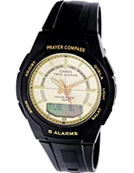 Casio Mens Core CPW500H-9AV Black Resin Quartz Watch with Gold Dial