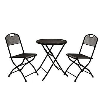 Vacchetti S.p.a. Rimini mesa redonda con dos sillas ...